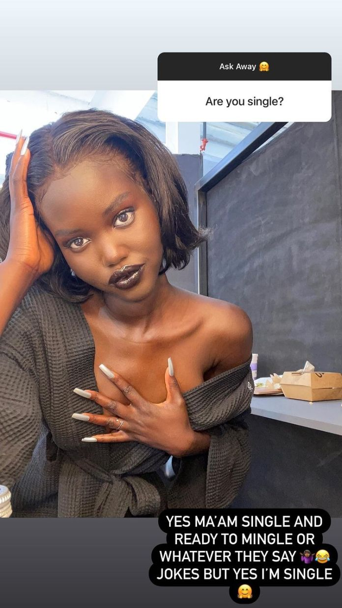 Adut Akech Hints Relationship With Runtown Has Hit The Rock
