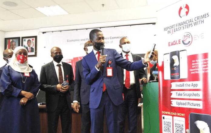 EFCC Boss Bawa at Launch of Eagle Eye App