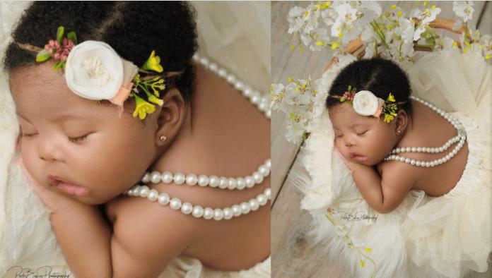 Basketmouth's third child Maya Okpocha