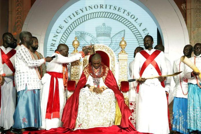 Olu Of Warri : VISUALS As Prince Tsola Emiko Becomes The 21st Crowned Itsekiri Monarch