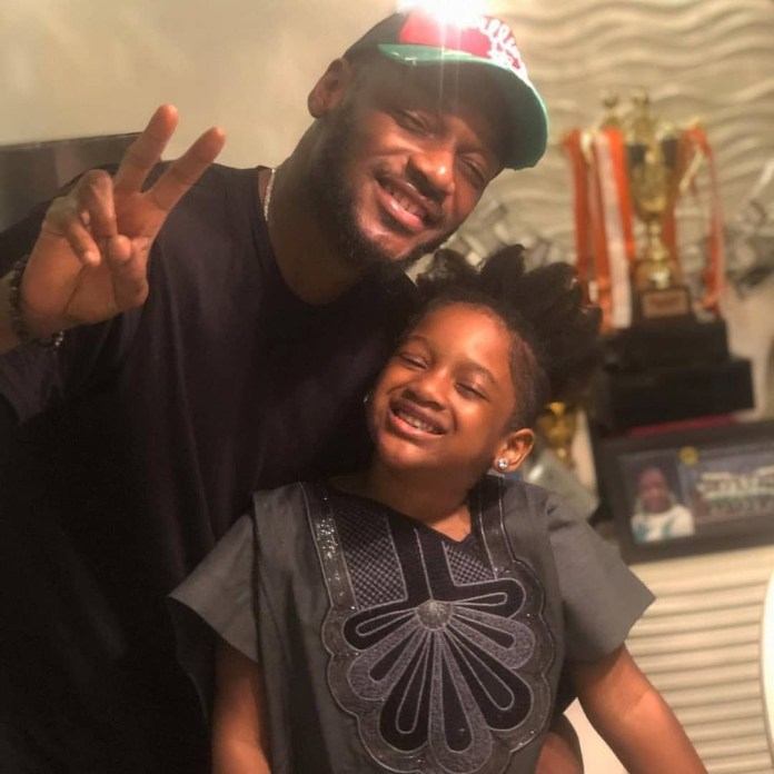 2face Idibia's Daughter Speaks On Her Father's Look