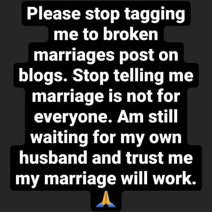 My Marriage Will Work, Please Stop Tagging Me In Broken Marriage - Inem Peter