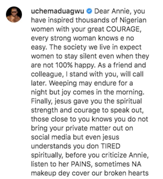 Wipe Your Tears Annie,You Have Tried - Uche Maduagwu