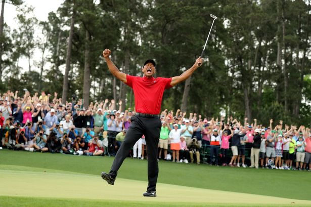 Tiger woods wins first masters to claim first major in 11 years