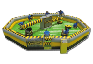 Size:30' - 30' - 9' Meltdown is our brand new 8 player action game which challenges your stamina, agility and reactions.