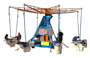 Mindwinder is the wild, wind-up amusement ride that will keep you smiling spin after spin! A true carnival favorite, the Mindwinder is the perfect attraction for all next level events! Up to 16 passengers can ride at one time so you and all your friends will have endless fun together.