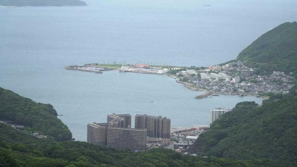 稲佐山から福田地域を見る