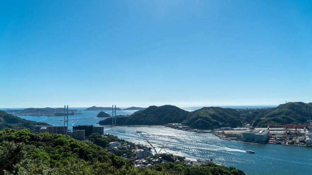 鍋冠山展望台の女神大橋