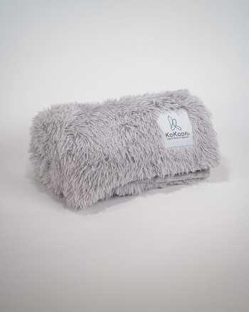 fluffy plaid gris