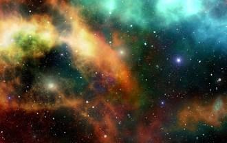 カラフルな宇宙の画像