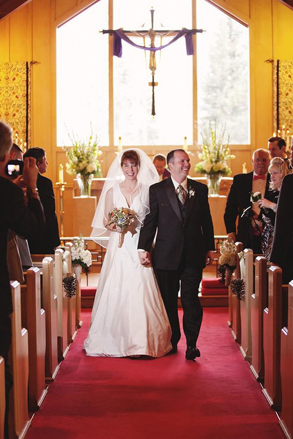 Wedding Photography at Estes Park, Colorado Church
