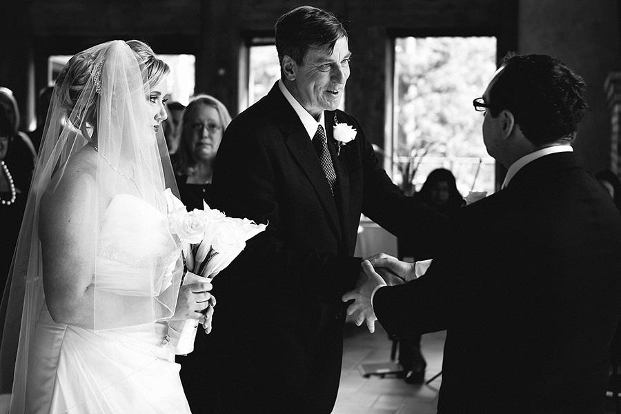 Della Terra Indoor Ceremony Wedding Photography