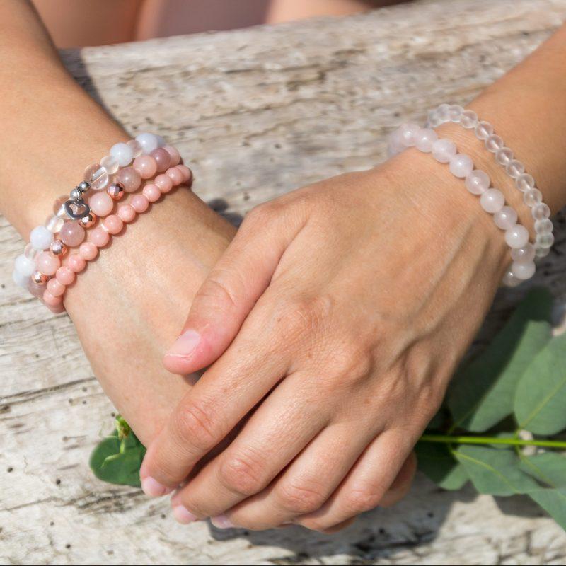 Channeled Crystal Bracelets