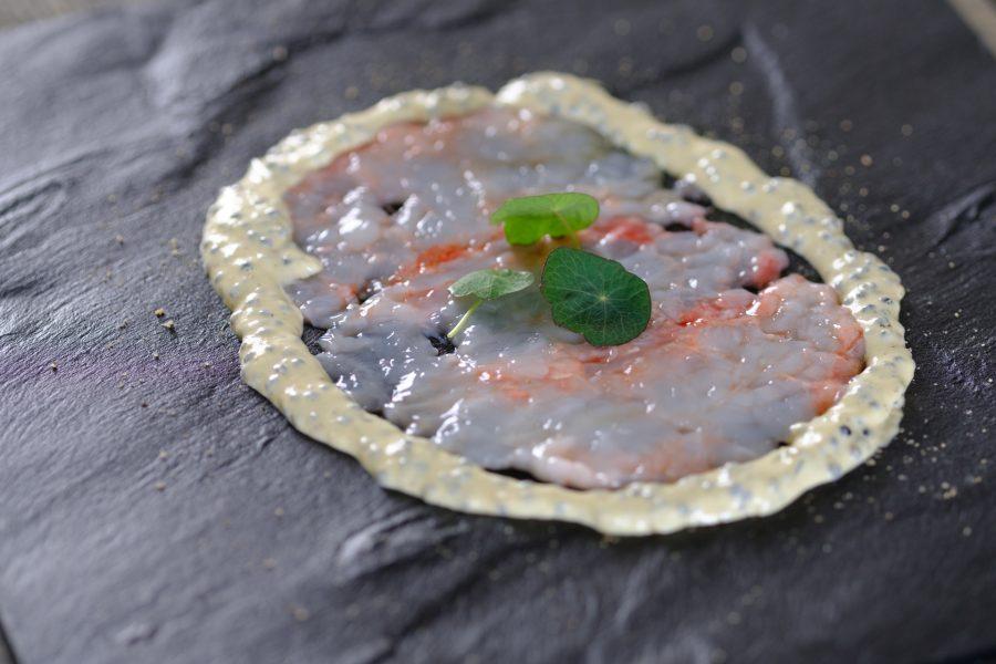 Carpaccio van rauwe langoustine