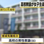 堺市立高校の男性教諭が女子生徒に全裸強要 現場の学校を特定