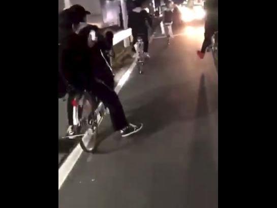 【炎上】岡田龍一@okadaRYUICHI102、自転車で道路を爆走する動画を公開→削除するが転載され、中学校も特定される【バカッター】