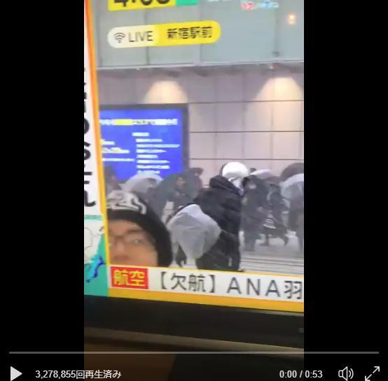 """「みんなのニュース」新宿中継に映りまくる男性が""""うざすぎる""""と話題に"""