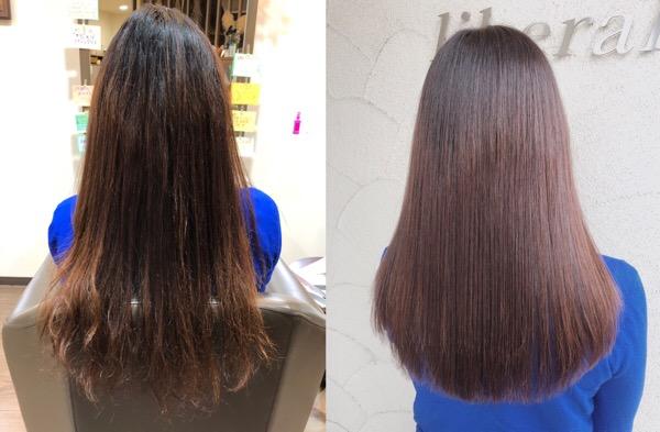 大阪の髪質改善でビビり毛になってしまった髪をビビり修正