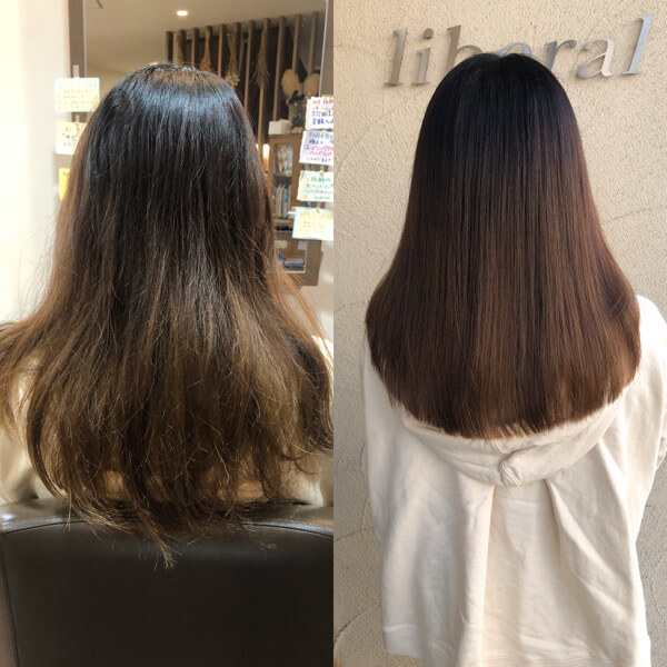 産後のクセとパサツキが気になる大阪市内からのお客様に艶髪オーダーメイドトリートメント