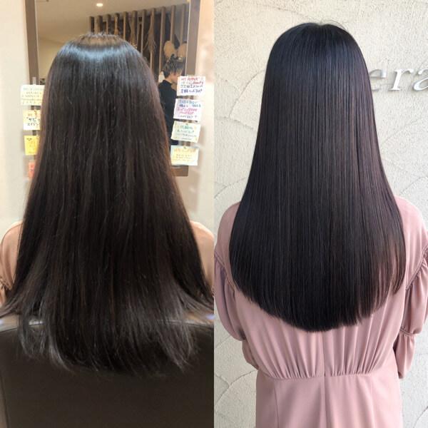 奈良県からチューニングをずっとされてた方が艶髪オーダーメイドトリートメントでご来店