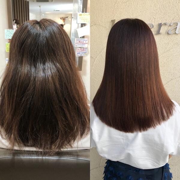 髪質改善縮毛矯正で見違えるほど綺麗な髪に