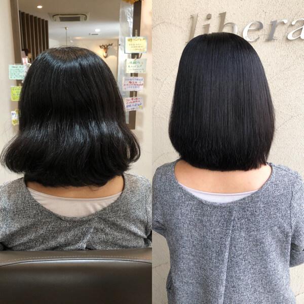 自然な縮毛矯正ならペタンコにならないから縮毛矯正を辞めなくて良くなります