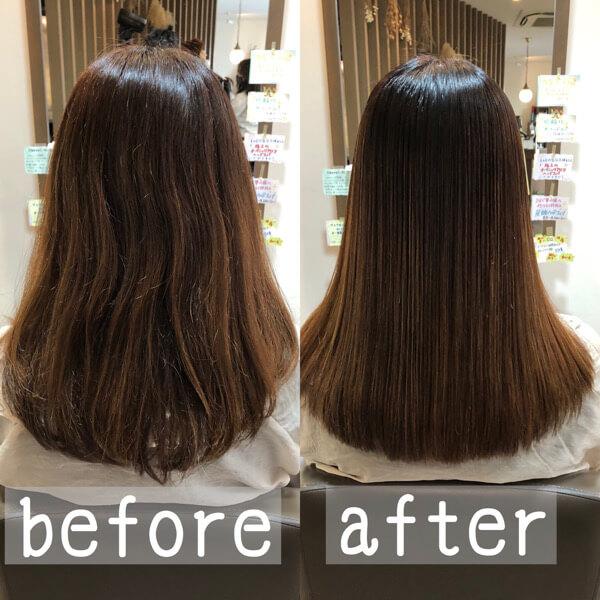 ブリーチのハイライトが入った髪に縮毛矯正はすごく難しいです【箕面大阪】