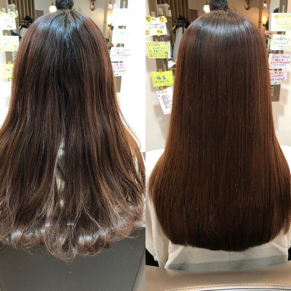 成人式に向けて髪質改善縮毛矯正でサラサラストレートに【箕面 大阪】