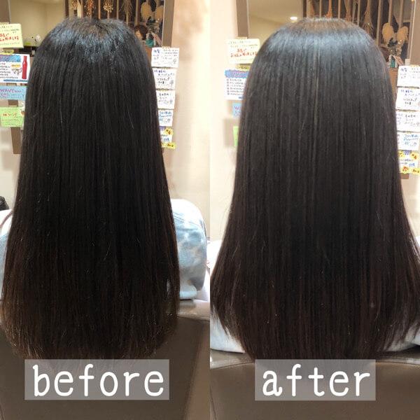 西宮から髪質改善縮毛矯正でダメージ感じさせない髪に