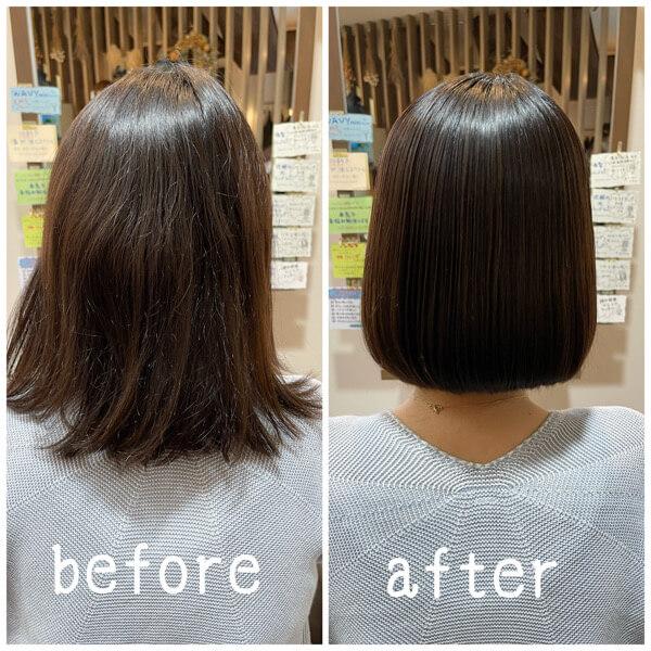 バッサリミニボブまで切って髪質改善酸性縮毛矯正でお手入れ楽に【箕面 大阪】