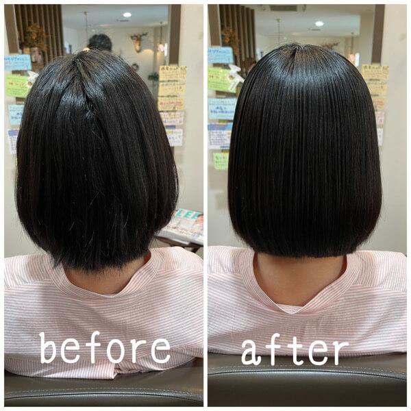 大阪市北区から髪質改善酸性縮毛矯正でご来店【箕面 大阪】