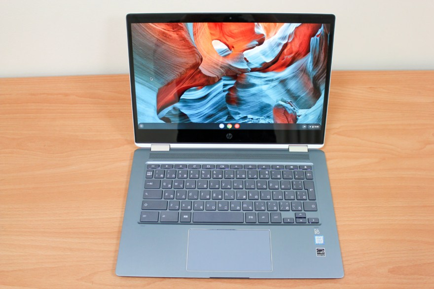 「HP Chromebook x360」のディスプレイ