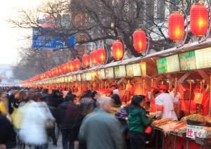 中国の露天市場