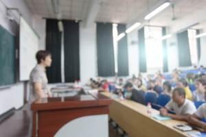 北京大学での講義風景