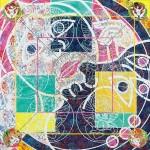 <月と女曼陀羅15-2> 162×162cm