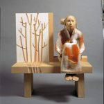 137×127×80cm 紅松、桂、銅、朱墨、胡粉