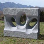 110×140×70cm 白御影石