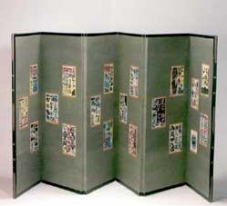 棟方志功 屏風「心偈」 116×300cm  1957製作 日本民芸館蔵