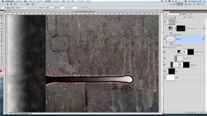 黒線の周辺背景を写真2で薄く見えるくくり線の様に投げ縄ツール等で選択(赤点線部)し、別レイヤーに分ける