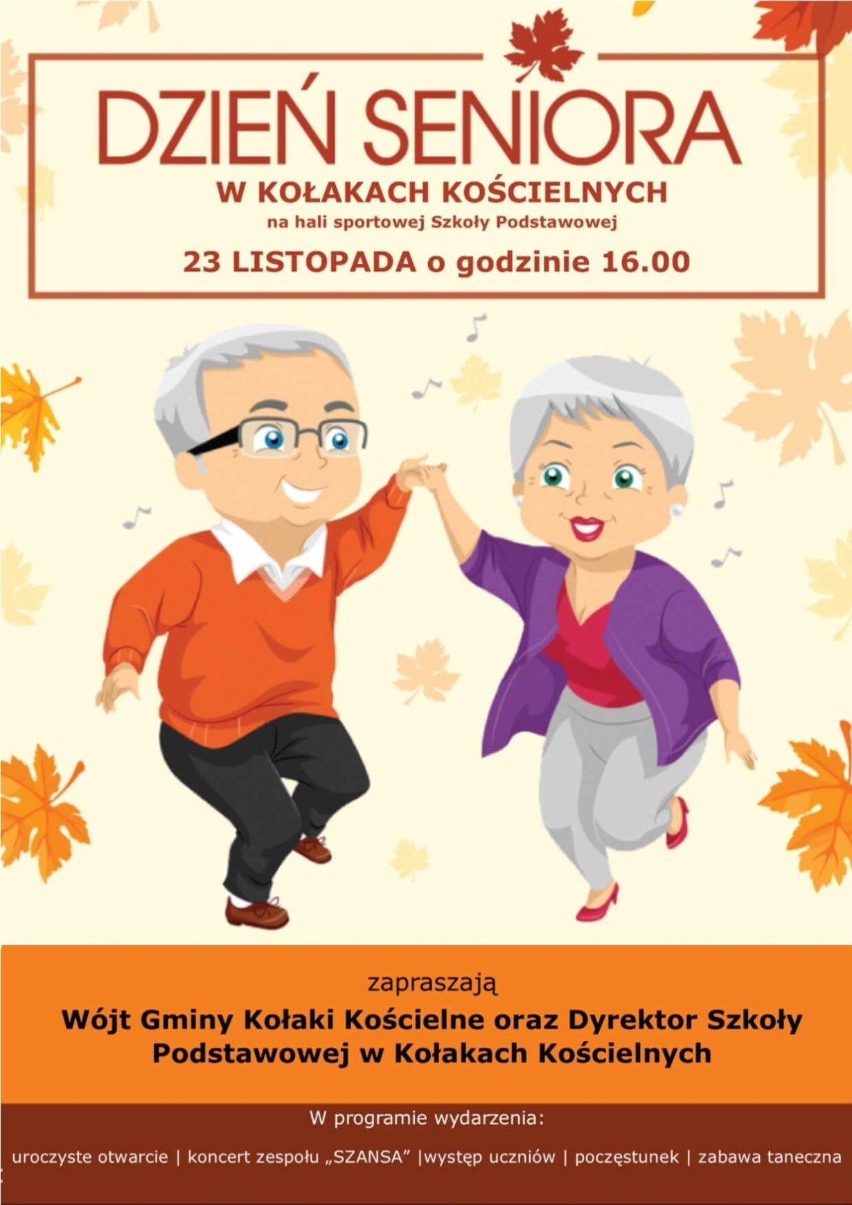 Zaproszenie na Gminny Dzień Seniora w Kołakach Kościelnych