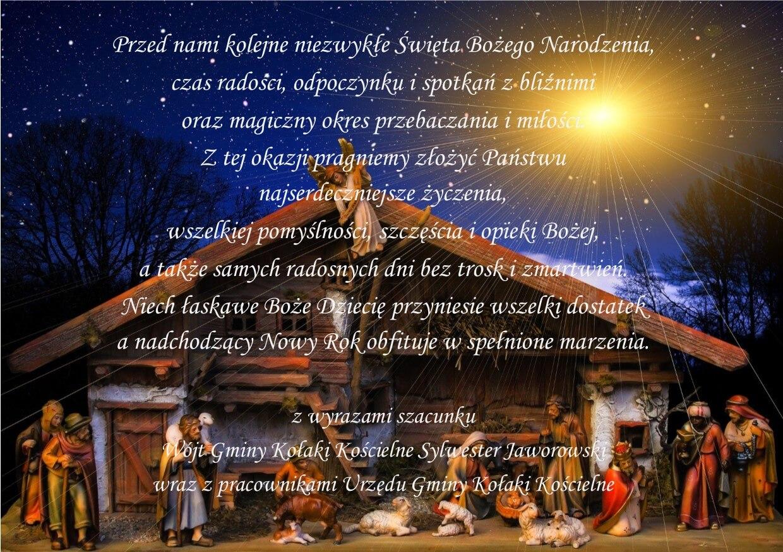 Życzenia Świąteczne – Gmina Kołaki Kościelne