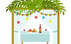 Dinner in the Sukkah