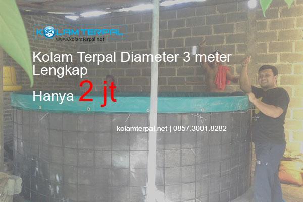 Harga Kolam Terpal Bulat diameter 3 Meter LENGKAP
