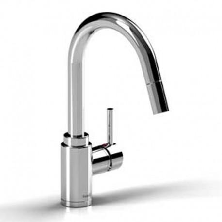 riobel bo201 bora tall kitchen faucet with spray
