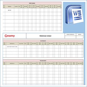Doküman Listesi Formu OnomyWeb