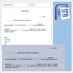 İstifa Dilekçesi Örneği OnomyWeb