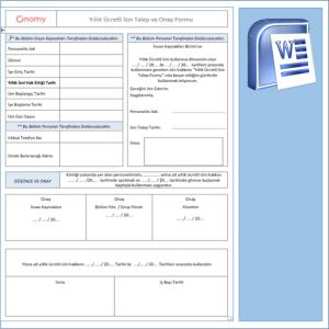 Yıllık Ücretli İzin Talep ve Onay Formu OnomyWeb