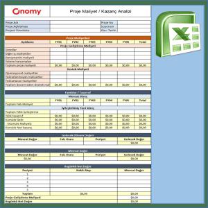 Onomy Proje Set 1 - Proje Maliyet Kazanç Analizi