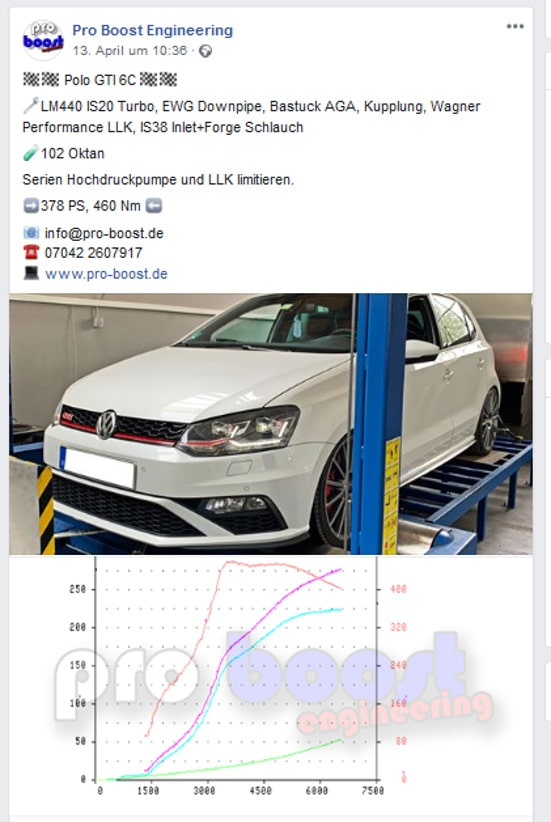 LM440 IS20 VW Polo GTI 6C Upgrade Turbo