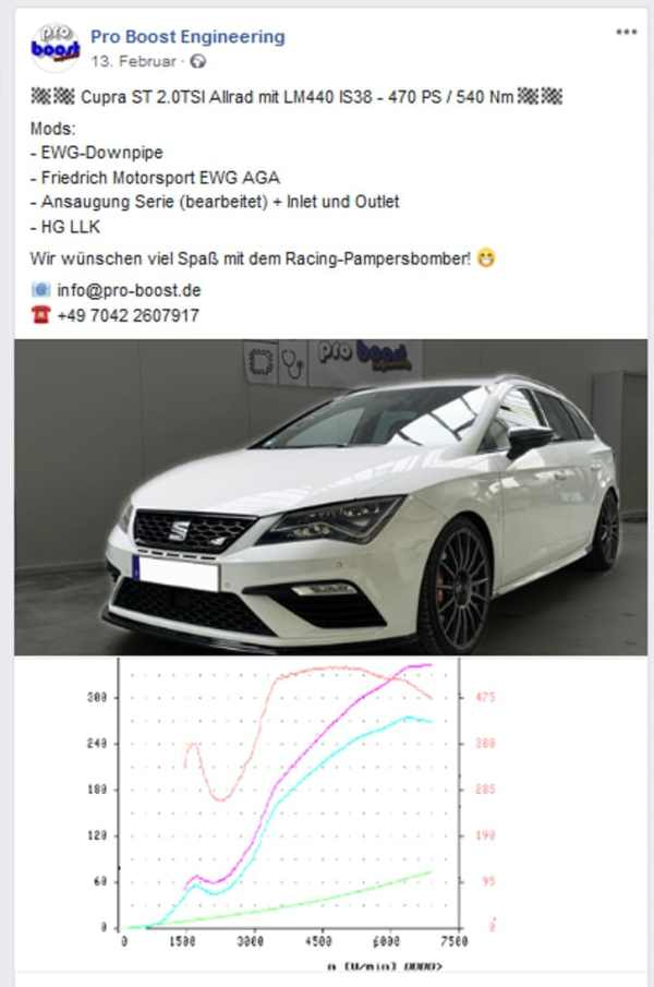 LM440 IS38 Stage 3 Seat Leon 5F Cupra Upgradelader Turbo Upgrade